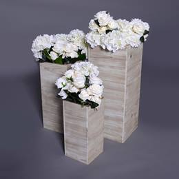 Bouquets of Beauty Boxy Planters and Flowers Kit (set of 3)