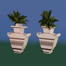 Stunning Santorini Vases Kit (set of 2)
