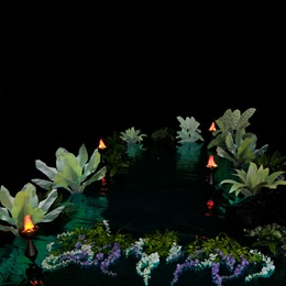 Rainforest Flora and Flame Lamp Kit