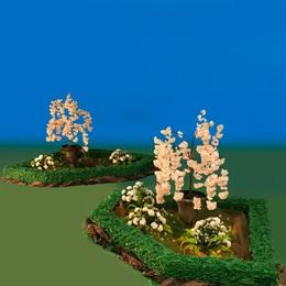 White Blossom Garden Display Kit (set of 2)