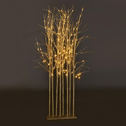 Small Champagne Glitter Tree Cluster Kit