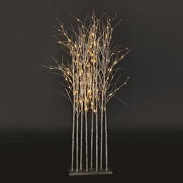 Small Silver Glitter Tree Cluster Kit
