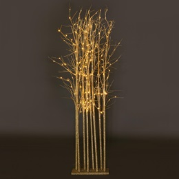 Large Champagne Glitter Tree Cluster Kit