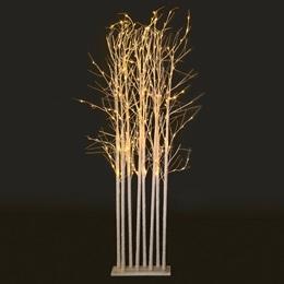 Large White Glitter Tree Cluster Kit