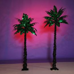 Glam Green Palm Trees Kit (set of 2)