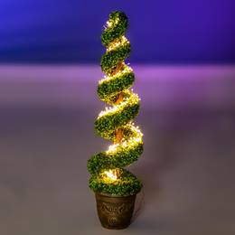Spiral Topiary With Warm Lights Kit