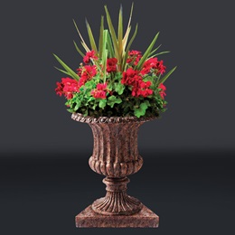 Garden Urns Full-color Life Size Cut Outs (set of 3)