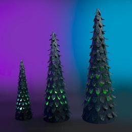Forest Fluorescence Glittered Trees Kit (set of 3)