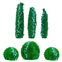 Lush Green Foliage Trees & Bushes Kit