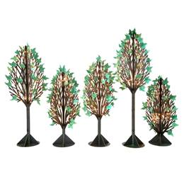 Twinkling Parisian Park Trees Kit (set of 5)