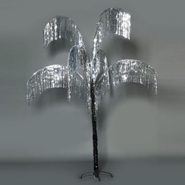 Vibrant Palm Tree - Silver