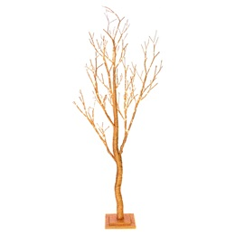 Large Glitter Light-up Tree - Copper