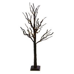 Small Glitter Light-up Tree - Black
