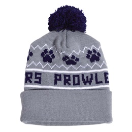 Paw Print Jersey Cuff Hat
