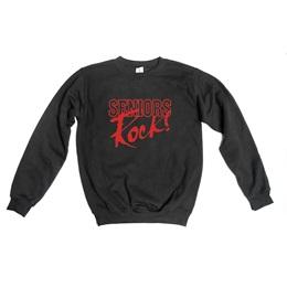 Stock Design Crew Neck Fleece Sweatshirt