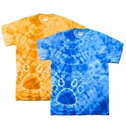 Paw Print Tie Dye T-shirt, Adult Size