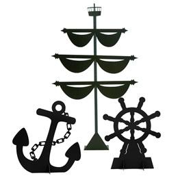 Ship Prop Kit-Anchor, Helm, Mast