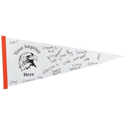30 in. x 12 in. Autograph Pennant
