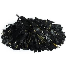 Plastic/Glitter Pom-Poms - 6-in.