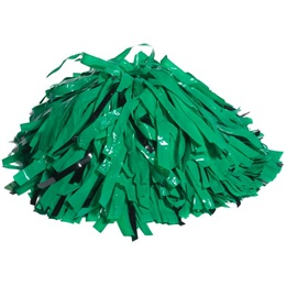 Wetlook/Glitter Cheerleader Pom-Poms - 4 in. Two Colors with Baton Handle