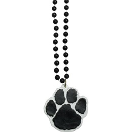 Paw Medallion with Black Beads