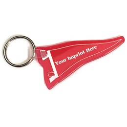 Rubber Pennant Keychain