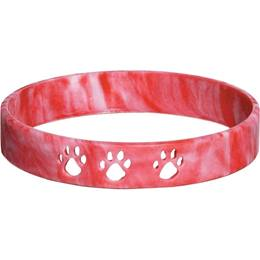 Paw Cut-out Wristband – Red