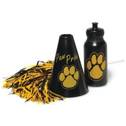 Black/Gold Megaphone Set