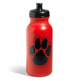 Paw Water Bottle – Red/Black