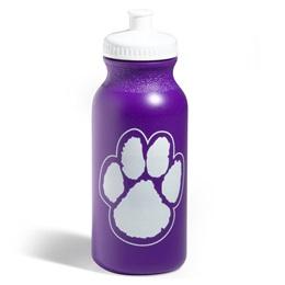 Paw Water Bottle – Purple/White
