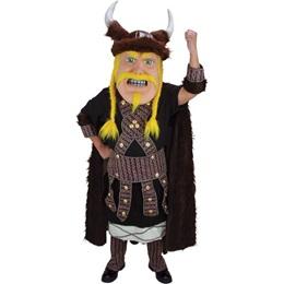 Blond Viking Mascot Costume