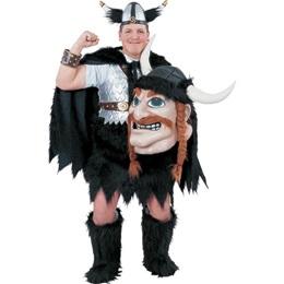 Viking Mascot Costume with Helmet