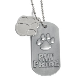 Paw Pride Dog Tag with Paw Charm