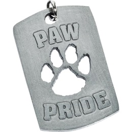 Cutout Dog Tag - Paw Pride