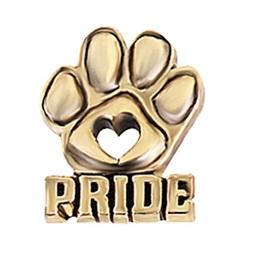 Paw Award Pin – Gold-tone Pride
