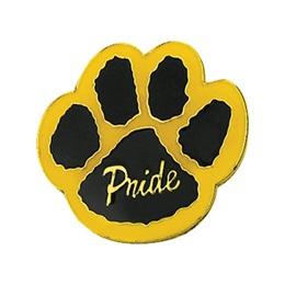 Paw Pride Award Pin – Black/Yellow