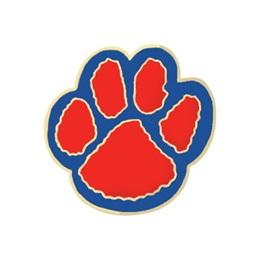 Paw Award Pin – Red/Blue