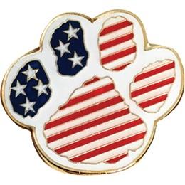 Patriotic Award Pin – Paw Flag
