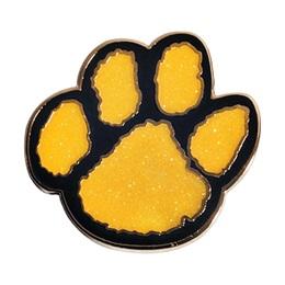 Paw Glitter Pin – Yellow/Black