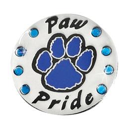Paw Pride Award Pin – Blue Rhinestones